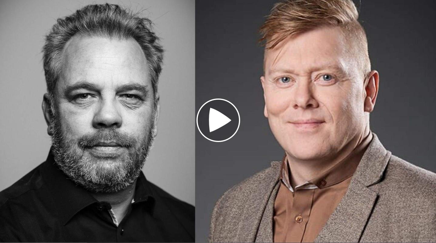 Vilhjálmur Hjálmarsson og Jón Gnarr